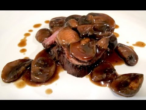 Filet MIgnon (Steak) with Mushroom Red Wine Sauce - YouTube