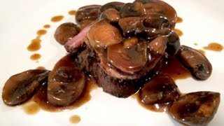 Filet Mignon (steak) With Mushroom Red Wine Sauce