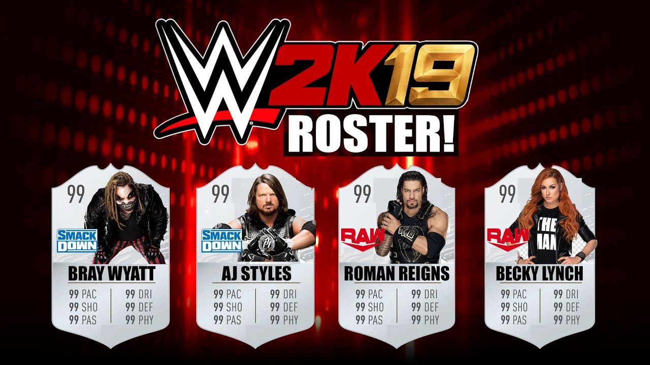 WWE 2K19: ROSTER CONCEPT (Superstars RAW, SmackDown Live, NXT, Legends,  Womens)!✔