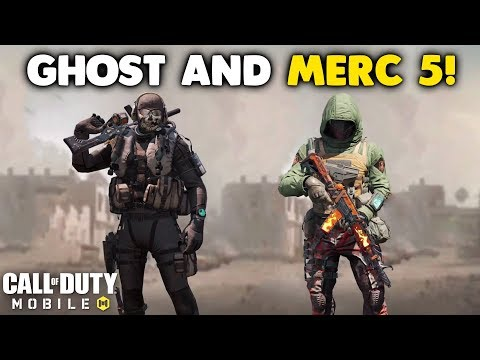 Nuking with the New Ghost and Merc 5 Sets in Call of Duty Mobile! #CODM_Partner