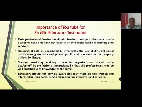YouTube for a Prolific Educator/Institution - YouTube Visibility