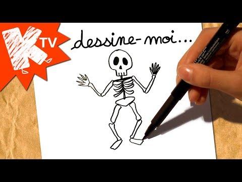 Squelette Dessin Halloween.Dessine Moi Un Squelette Dessin Halloween Youtube