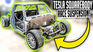 This week we're taking our Tesla swapped C10 squarebody and focusing all of our attention on the suspension and handling! With all of the power this twin ...