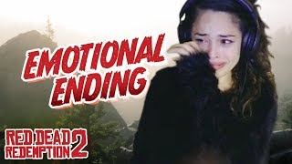 I CRIED! Red Dead Redemption 2 Ending REACTION - Valkyrae Plays RDR2