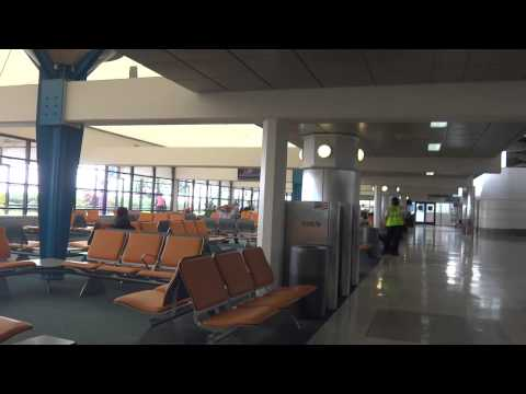 Walking through:  Grantley Adams International Airport in Barbados BGI