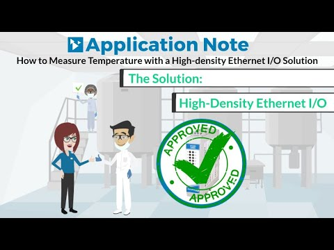 How to Measure Temperature with a High-density Ethernet I/O Solution | Acromag Video App Note