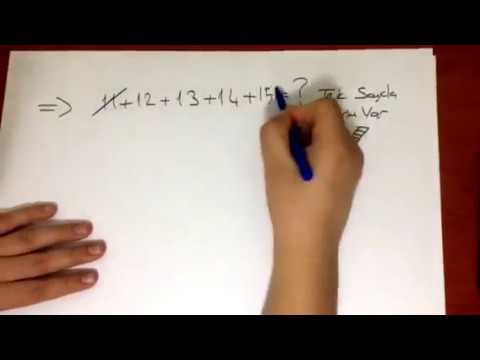 4.Sınıf Matematik Ardışık Sayıları Toplama