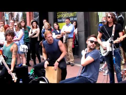 KEYWEST - Electric Love - Live on Grafton Street, Dublin, Ir