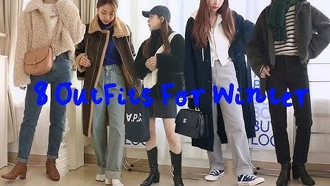 감성가득 8가지 겨울 데일리룩☃️(에코퍼,코트,무스탕.zip) Winter Outfits | Jody 조디