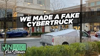 We built a fake Cybertruck to troll Tesla