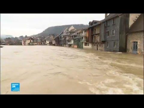 الهطولات المطرية الغزيرة تتسبب بفيضانات الأنهار الفرنسية