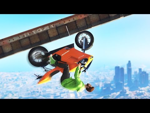 UPSIDE DOWN BIKE GLITCH! (GTA 5 Funny Moments)