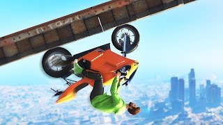 UPSIDE DOWN BIKE GLITCH! (GTA 5 Funny Moments)