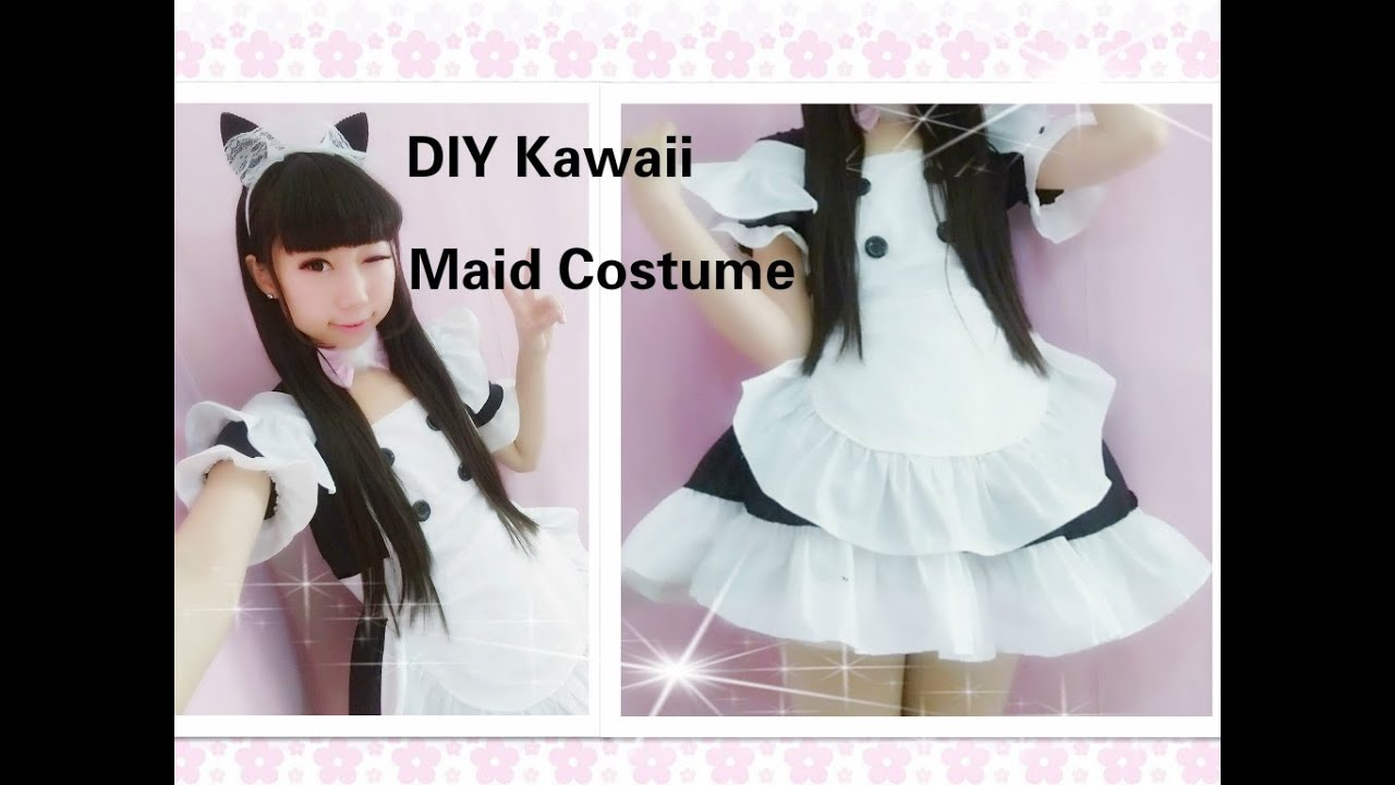 Kawaii anime cosplay diy how to make neko maid cafe costume youtube premium solutioingenieria Images