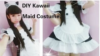 Kawaii Anime Cosplay DIY - How to Make Neko Maid Cafe Costume/outfits(Easy& adorable)