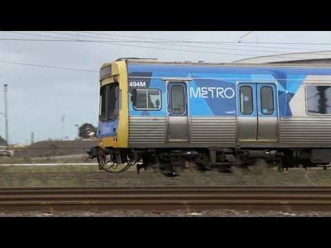 Trains - Vline and Metro Trains Melbourne near Laverton - Australian Passenger Railways - PoathTV