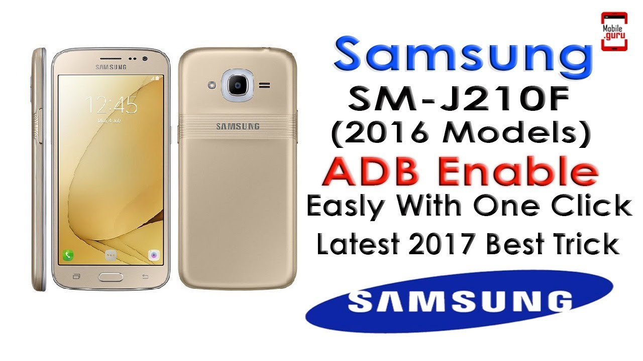 Samsung SM-J210F (6) ADB Mode Enable