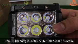 [TrênTay] Đèn LED trợ sáng cho xe máy đi phượt C6 18W 0967067706