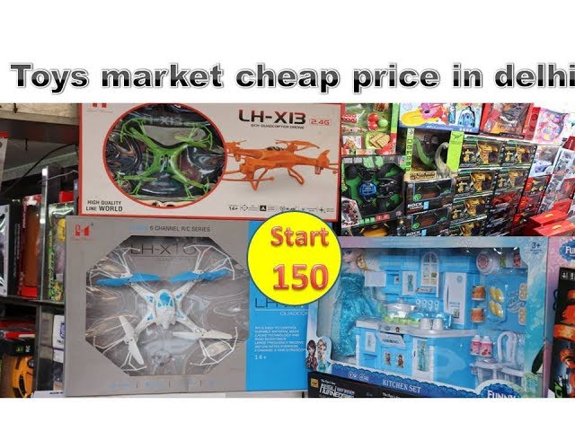 cheapest toy market sadar bazar in delhi //all type toys drone remote car etc