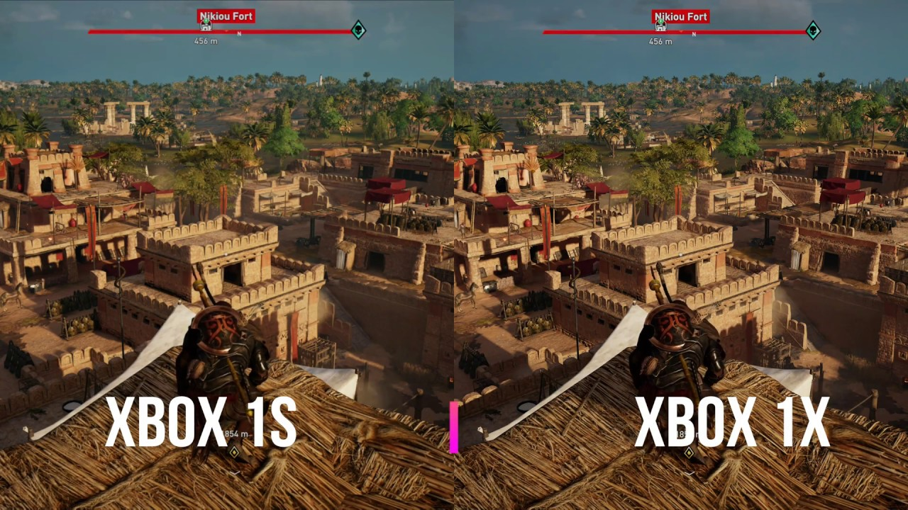 Assassins Creed Origins On Xbox One X Vs Xbox One S Side By Side Comparison Youtube