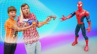 Человек Паук против героев Марвел? Игры для мальчиков в видео с игрушками.