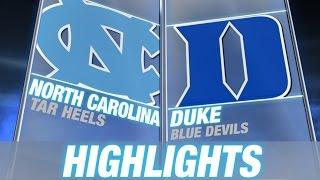 North Carolina vs Duke | 2014-15 ACC Men's Basketball Highlights