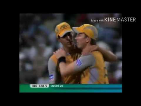INDIA VS AUSTRALIA SEMI FINAL 2007 INDIA WIN
