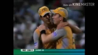 INDIA VS AUSTRALIA SEMI FINAL 2007 INDIA WIN