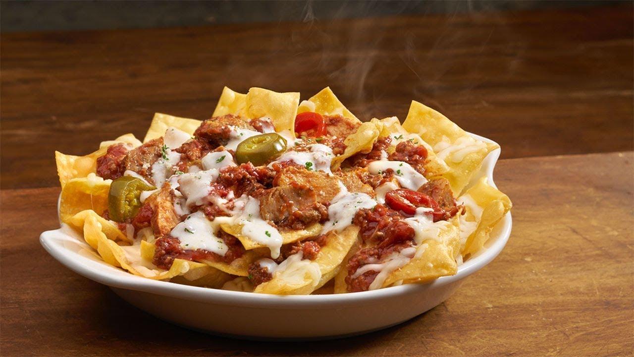 Meet Olive Garden\'s new \'Italian nachos\' - YouTube
