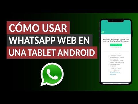 Cómo Usar WhatsApp Web en una Tablet Android | Cómo Instalar WhatsApp en una Tablet sin Chip