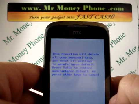 HARD RESET your HTC TouchPro 2 Touch Pro DATA Wipe Master Reset (RESTORE to FACTORY condition)