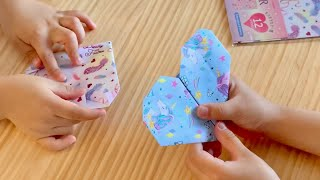 Origami Heart (The Easiest Instructions by 5-Year-Old) ?