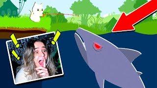 PESCANDO TUBARÃO GIGANTE no OCEANO!! (CAT GOES FISHING)