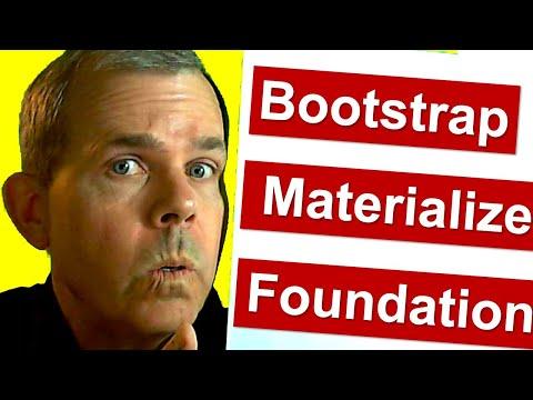 Bootstrap vs Materialize vs Zurb Foundation CSS Frameworks