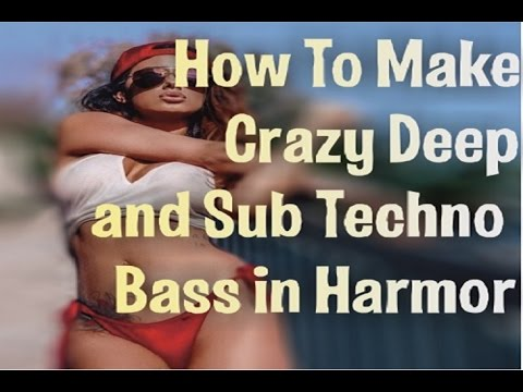 How to make Deep Sub Bass with Harmor. Creating Deep and Dub Techno, Deep House Bass in FL Studio