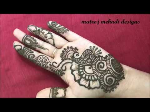 Mehndi Easy Design : Raksha bandhan special easy mehndi design for handsmatroj