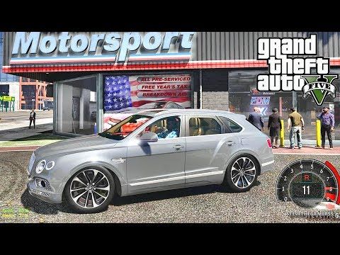 GTA 5 MOD #157 LET'S GO TO WORK (GTA 5 REAL LIFE MOD) BENTLEY TRUCK & DRAG RACE