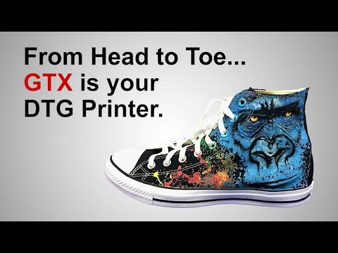 Brother GTX garment printer – custom shoe printing