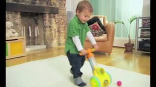 Стреляющая каталка Толкай-Запускай-Собирай Tomy Pic N Pop Ball Blaster