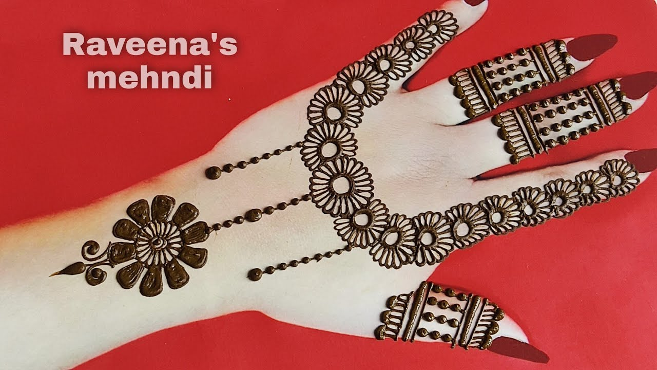 Gorgeous full hand stylish mehndi design  simple/easy partywear mehndi design  raveena's mehndi
