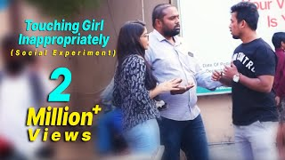 Touching Girl inappropriately(Social Experiment) | Comment Trolling Dares | Vinay Kuyya