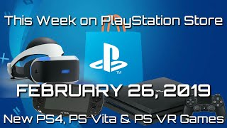 New Ps4, Ps Vr And Ps Vita Games For February 26, 2019