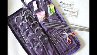 Обзор рукодельных товаров из Китая. Набор спиц. Нуууу очень большой набор спиц. Вязание.Рынашко