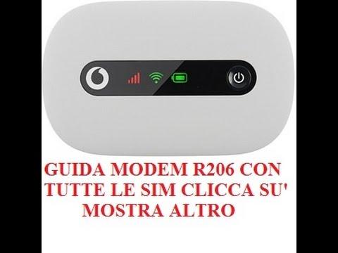 Guida Modem Mobile Wi Fi R206 Con Tutte Le Sim Vodafone