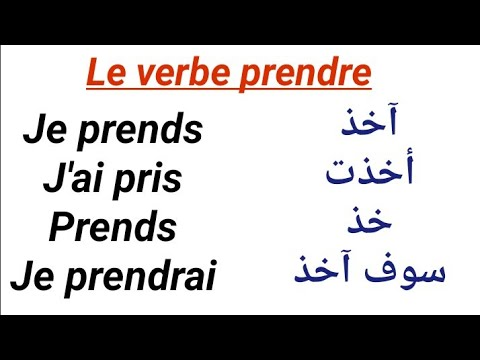 Apprendre Le Francais La Conjugaison Du Verbe Prendre Au Present Au Passe Compose Au Futur Youtube