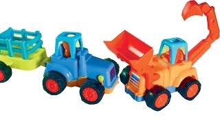 Мультфильм про Рабочие Машинки:Экскаватор-погрузчик,трактор,самосвал.Развивающие мультики для детей.