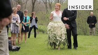 Wedding Dress Made Out of Flowers