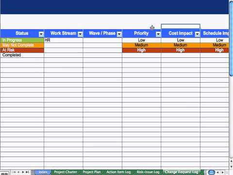 6) Change Request Log - Project Management - YouTube - change log template