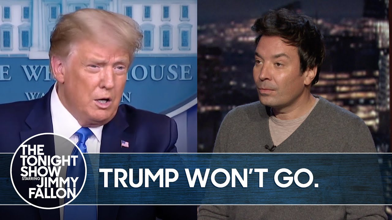 Trump Refuses to Say He'll Leave White House | The Tonight Show