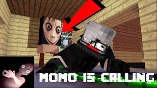Momo Is Watching Horror - Minecraft Animation
